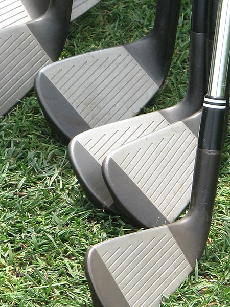 Singh's Cleveland CG Tour irons have a customized gunmetal finish.