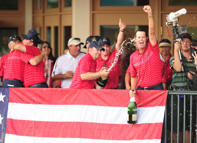 2011                            If J.B. Holmes was one of the stars of the 2008 Ryder Cup -- the Kentuckian went 2-0-1 to tie Weekley for the best record among the Americans -- it's elementary that Tom Watson would triumph at the 2011 Senior PGA Championship.