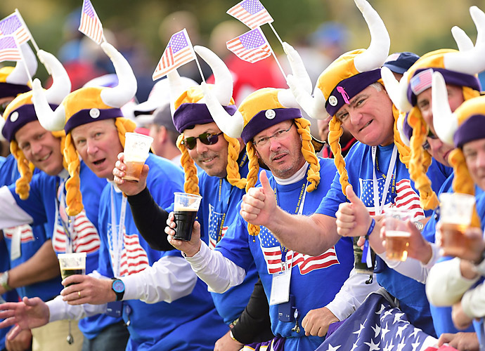 The Vikings fans were back Sunday to root on the Americans.