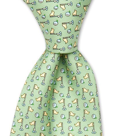Vineyard Vines Golf Tie ($75)                           vineyardvines.com                           Your Dad may be more comfortable in golf shirts, but almost every man has to wear a tie at least a few times a year. Vineyard Vines can make those times fun with their colorful ties and amusing images. The company has several golf-themed ties, including this Hole-In-1 tie. All are made in the U.S. with 100% silk.