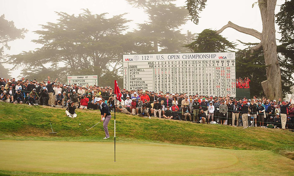 After missing left on 18, Simpson got up and down on the 72nd hole to post one over, the winning score.