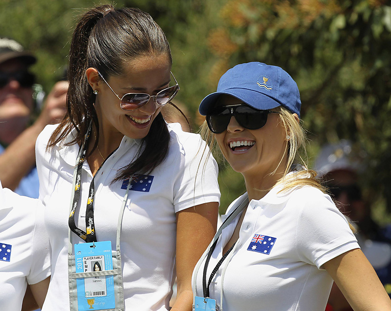 Ivanovic also walked with course with Richelle Baddeley in the opening round.
