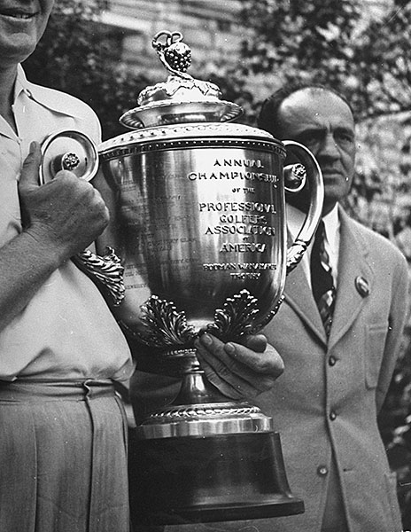 The hefty PGA Championship trophy is named for Rodman Wanamaker, son of a department store magnate, who spearheaded the creation of the PGA of America in 1916. He donated $2,580 in prize money, the trophy and some medals to fund the first PGA Championship, played that same year. Wanamaker did not play golf, but as a sports enthusiast and keen merchandiser, realized the benefits of promoting the game.