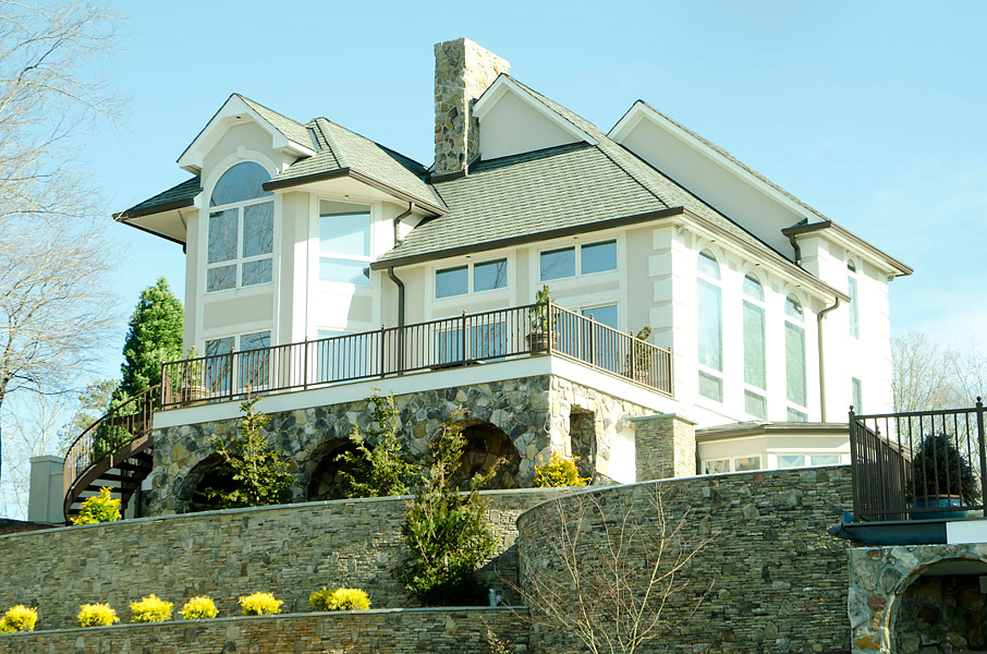 Bubba Watson, the 2012 Masters champion, has put his Lexington, N.C., lake house on the market. Here's an inside look. For more information visit lakehouse.com.                                                      Rear view from the water.