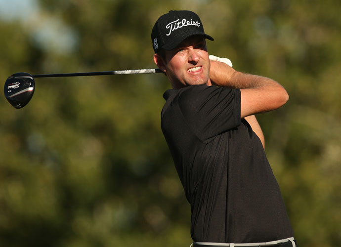 Defending champion Webb Simpson bogeyed the final hole to slip into a tie for fourth with Walker and Brooks Koepka.
