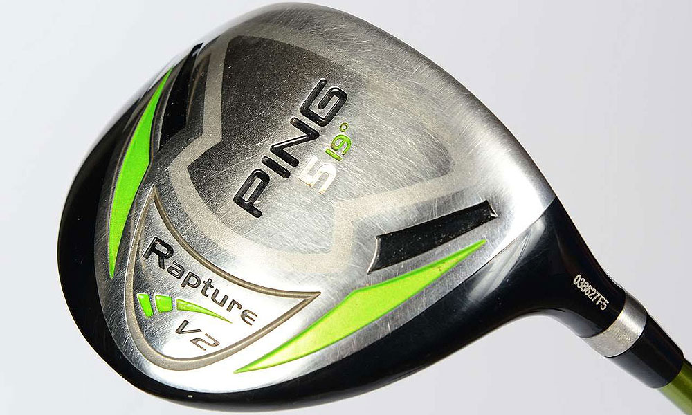 This Ping Rapture V2 5-wood  has been bent from 18° to 19°. It has a