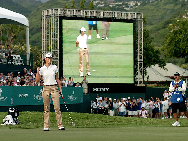 Wie birdied the last hole to shoot 72-68 at the 2004 Sony Open, missing the cut by only one shot.