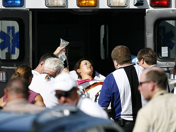 After shooting a 77 in the opening round of the 2006 John Deere Classic, a PGA Tour event, Wie succumbed to heat and fatigue and was taken from the course in an ambulance.