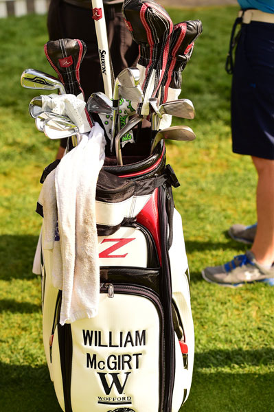 Srixon staffer William McGirt sports a mixture of clubs including a game-improvement Cleveland 588 long iron and some forged Srixon cavity backs.