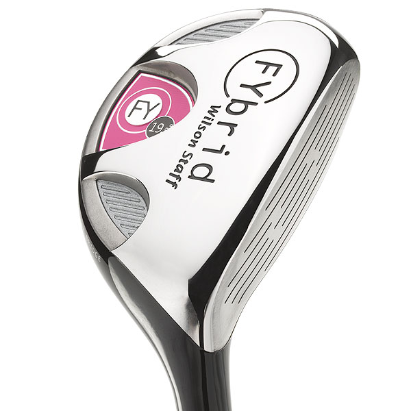"$149, graphite                        wilsonstaff.com                        Jon Pergande, Club R&D Manager: ""Our FYbrid series provide a unique opportunity to expand the norms of club design. The range showcases traditional design flair with new, innovative shaping. The entire range suits today's modern women golfers.""                        How it works: Don't be fooled by the cute pink accents on the shaft and clubhead. This hybrid packs serious performance punch. Its sole has heel, toe, and central relief areas so the club can glide through turf while the UST ProforceV2 shaft plays a pivotal role in achieving repeatable ball flight. Choose a FYbrid by merely replacing the like-numbered long iron."