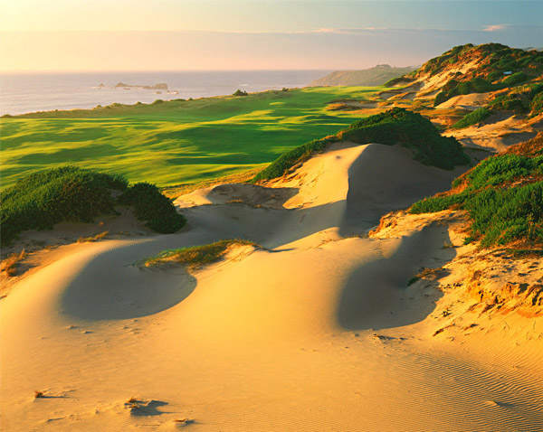 Hole No. 6                       Pacific Dunes                       Bandon, Oregon                       13th hole; par 4, 444 yards                                              The youngest hole on our Dream 18 dates to 2001, but fits so majestically into the terrain that it looks a century older. Architect Tom Doak routed this hole into the prevailing wind, so on many days the par of 4 is a joke. A gigantic natural dune flanks the fairway to the right, while the Pacific Ocean looms below the cliffs on the left. Scattered blown-out bunkers lend add more beauty and menace on the right side. With distractions and hazards a-plenty, Doak crafted a deep, modestly elevated green to give you a fighting chance at par.