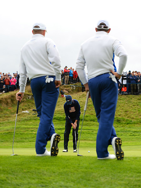 Jamie Donaldson and Lee Westwood beat Zach Johnson and Matt Kuchar 2 and 1.