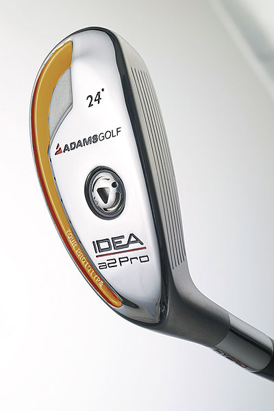 "ClubTest: Hybrids                           September 2006                           Adams Idea Pro                           $249, graphite; adamsgolf.com                                                                                 WE TESTED                            16°, 18°, 20° and 23° with Aldila VS 80 S graphite shaft                                                      THE COMPANY LINE                            ""A perfect combination of center of gravity (CG) location and moment of inertia puts the spin rate at the perfect range for a hybrid club. The weight port helps get the CG in its proper location.""                                                                                 OUR TESTERS SAID                                                                                 PROS                                                                                 ""Big, wide sweet spot auto-corrects most every miss from tee or fairway."" — Charlie                           Neivert (handicap 2)                                                                                 ""Delivers a nice, penetrating mid-trajectory and is workable from right to left and left to right. It is smooth and consistent and doesn't require a lot of effort to deliver great results. A finesse club that doesn't respond quite as well to force."" — Robert Friedrich (8)                                                                                 ""Can feel the head all the way through impact as well as off the toe or heel, allowing for control."" — Matt McKeon (0)                                                                                 ""I could hit hard running shots to get extra roll or stay under the wind, and high, soft fades to hold a tighter green."" — Rich Sullivan (12)                                                                                 CONS                                                                                  ""These Idea Pros are good sticks for better players than me."" — Michael Kaye (14 )"