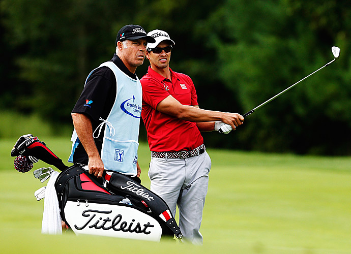 Adam Scott did not fare as well as his playing partners, shooting a two-over 73.