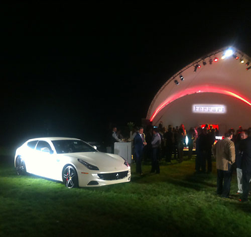 "Avid car junkie Ian Poulter became the owner of a new custom-made made Ferrari FF in Pebble Beach on Saturday. This is the first Ferrari Tailor Made for the USA. Poulter designed it himself.                                              ""@IanJamesPoulter: Then we finally took the covers off to have a look at the finished FF. Its an incredible machine."""