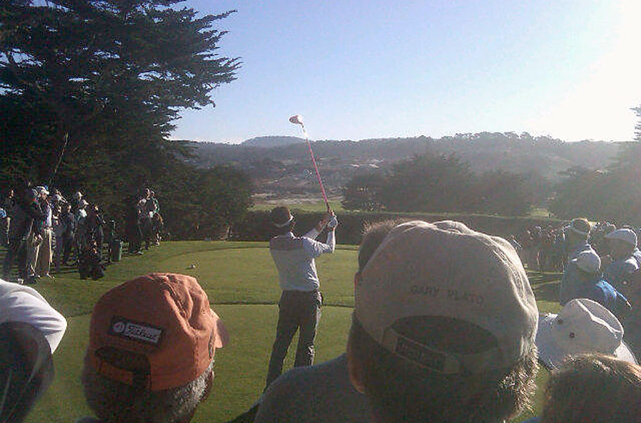 Bubba's opening tee shot. Long, not surprisingly.