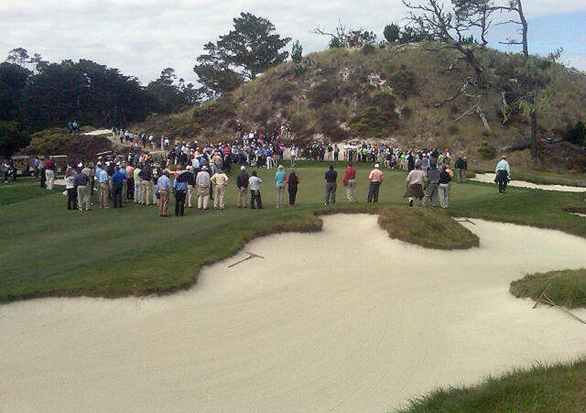 The first 10 holes at Cypress are great. 11 thru 17 is, quite simply, the best golf on the planet. The 11th green:
