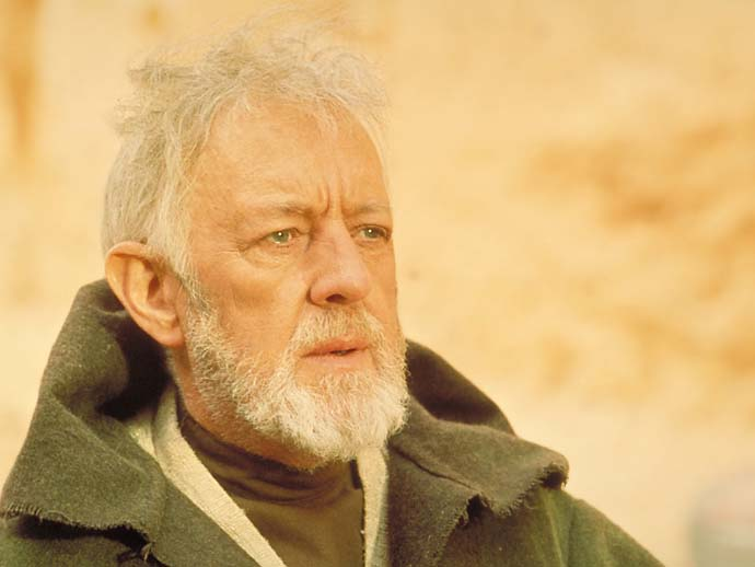Alec Guinness noun a shot that's O.B. Wan Kenobi