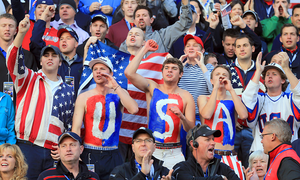 These Team USA supporters sacrificed warmth for their players on Saturday.