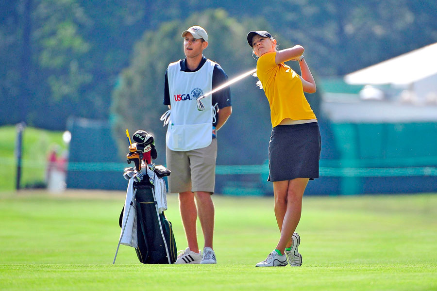 With her brother, Nathan, on the bag. Anderson slept on the lead during the first round of the 2011 U.S. Women's Open and got a taste of what the game is like at the highest level.