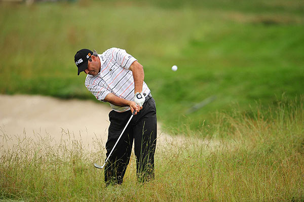 With four bogeys on the back nine to finish his first round, Masters champion Angel Cabrera is at four over par.