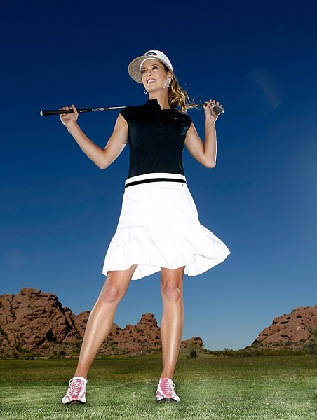 Anna Rawson                       Known as much for her modeling and fashion sense as she is for her golf, Rawson also served a spokeswoman for GoDaddy.com.