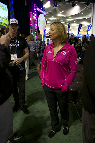 Retirement clearly agrees with Annika Sorenstam, who had a busy Wedneday at the PGA Merchandise Show. She opened the show by hitting a drive inside the convention center and later appeared on a State of the Industry Panel with Donald Trump. For what it's worth, Sorenstam said she won't be coming back to play in the 2016 Olympic Games.
