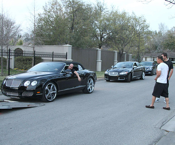 Kim's new ride was delivered during the photo shoot.