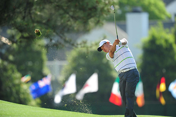Anthony Kim won last week in Houston, and he continued his good play on Thursday with a 4-under 68.