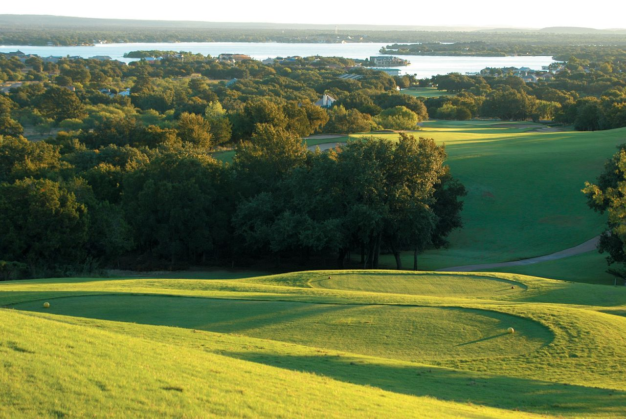 Horseshoe Bay (Apple Rock) -- Horseshoe Bay                           Robert Trent Jones Sr. completed his triple play with this 1986 design which boasts top-notch views of Lake LBJ, notably during the dramatic descent from the 10th tee down to the lake shores at the 11th. ($100-$150; 830-598-6561, hsbresort.com)