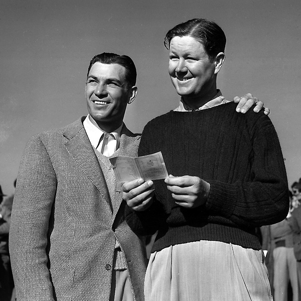 """""""Ben Hogan and I knew each other since we were kids, but we were not really friends. We were well acquainted, let's say. When Ben built a nice home in Fort Worth, I was never invited to his house. I never got a call to come over. I never got a call from Hogan in my life. I never heard him crack a joke or say something funny. The man wanted to be left alone. I respect that, but I've always believed in having lots of friends and family around you. One time Ben and I played together in Fort Worth. We went to the caddie master, and Ben's caddie, this little kid, said, 'Hi, Mr. Hogan!' Ben just looked at the boy and said, 'You know the rules: Carry my clubs and keep your mouth shut.'""""                             — From Byron Nelson: His Last Interview"""