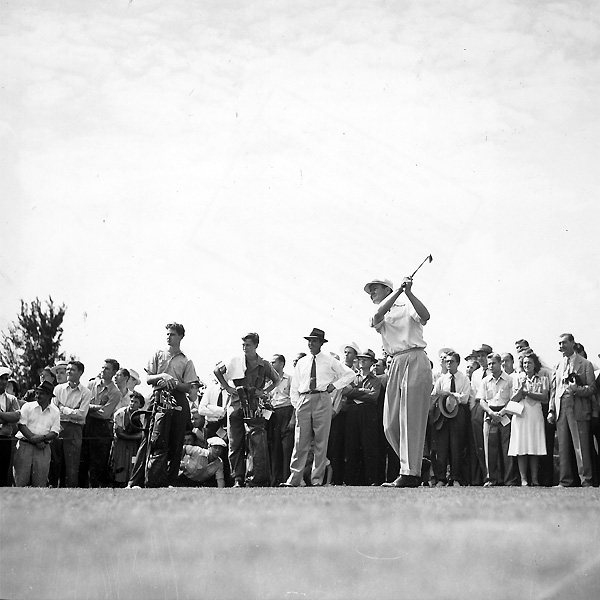In 1945, Nelson had the greatest year in golf. He won 11 straight tournaments, and he ended the year with a total of 18 wins.