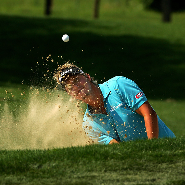 Fredrik Jacobson recorded four bogeys and three birdies, and he'll start the final round five shots back.