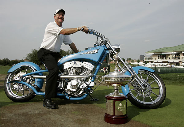 Verplank won a custom-designed motorcycle built by Orange County Choppers.