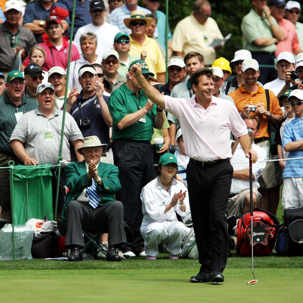 Faldo won nine PGA tournaments in his career, including six majors (three Masters and three British Opens).