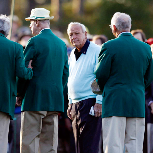 Palmer took over the honor held most recently by the late Gene Sarazen, Byron Nelson and Sam Snead, who was the last player to hit the ceremonial first shot, by himself, in 2002.