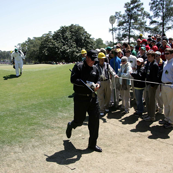 Mickelson shot 76-73-73-77 and finished 11 over par for the tournament.