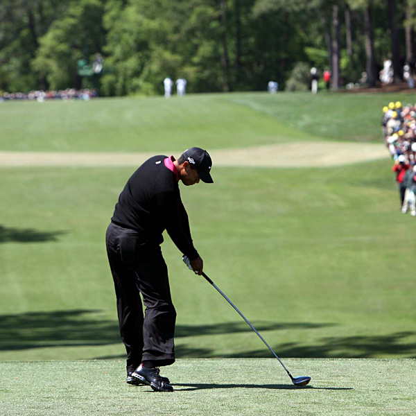 Woods stayed in the hunt with a birdie on the 2nd hole.