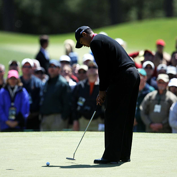 """""""It's not like I'm 100 back,"""" said Woods, who entered the final round one shot off the lead. """"I've got a shot at it."""""""