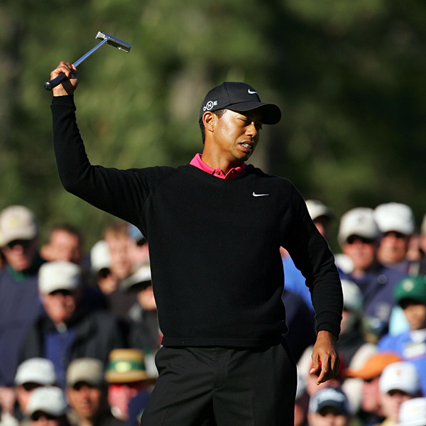 Despite an eagle on the 13th, a frustrated Tiger Woods couldn't mount the comeback he needed and finished tied for second.