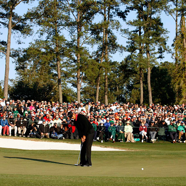A win this weekend would have earned Woods his fifth green jacket.