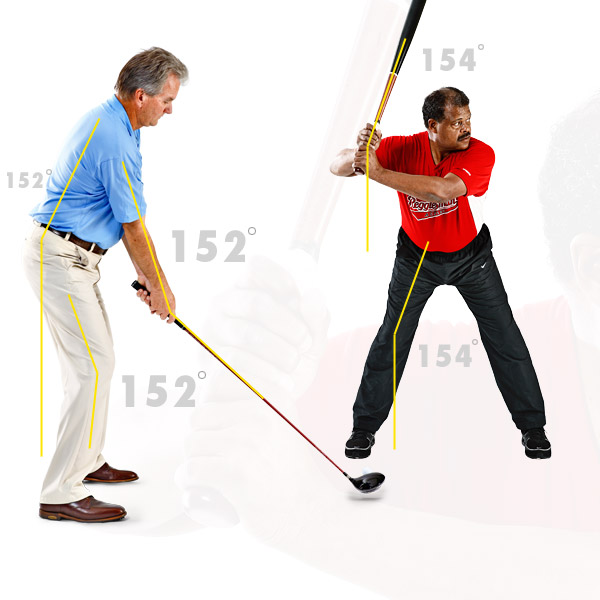 Start Position                       At the ready position you'll see and feel that in a proper stance your Power Angle repeats itself in multiple places. This is not a coincidence.                                              Repeating your Power Angle throughout your stance is your body's way of finding balance and setting you up to make the most efficient motion.