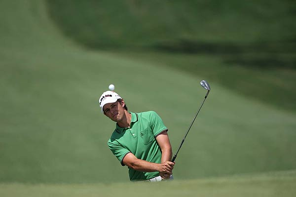 Aaron Baddeley finished his second round with a bogey. At four over par, he missed the cut.