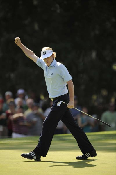Brandt Snedeker, who had three birdies on the front nine, ended his day at seven under par.