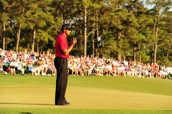 Woods made another eagle on 15, but by then he was too far back. Woods ended his round with a birdie on 18 to finish tied for fourth.
