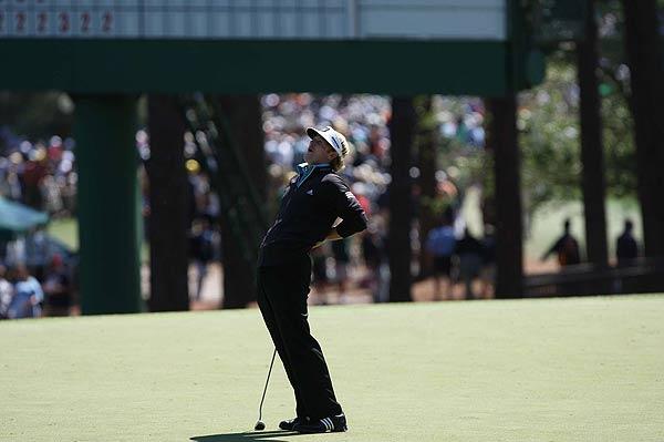 Snedeker missed a birdie putt on the third hole.