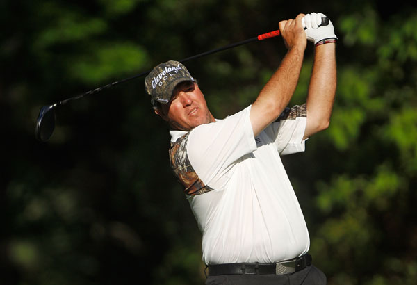 won at Harbour Town in 2007 and 2008, and he is in contention again after a 68.