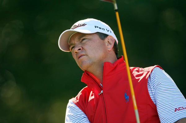 Davis Love III, a five-time winner at Harbour Town, moved into contention with a 67.