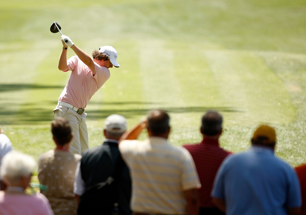 Rory McIlroy was in good shape until a double bogey on 18. He made the cut by one shot.