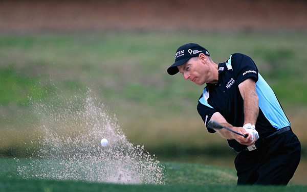 Jim Furyk improved his chances of a repeat at Harbour Town with a 66 on Friday.